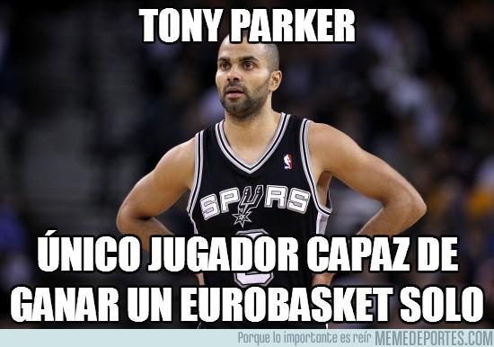 189306 - Tony Parker, él solo gana un Eurobasket