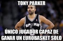 Enlace a Tony Parker, él solo gana un Eurobasket