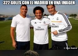 Enlace a 322 goles con el Madrid en una imagen