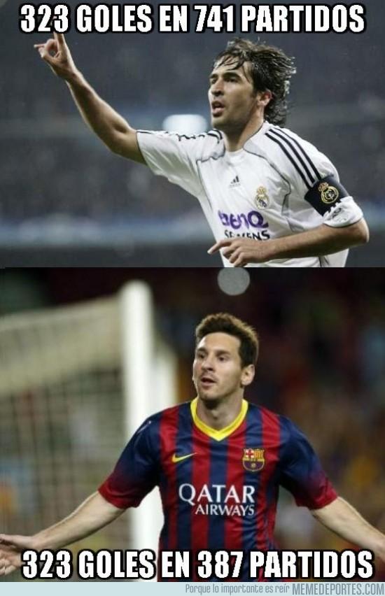190046 - Con el gol de ayer, Messi ha alcanzado a Raúl