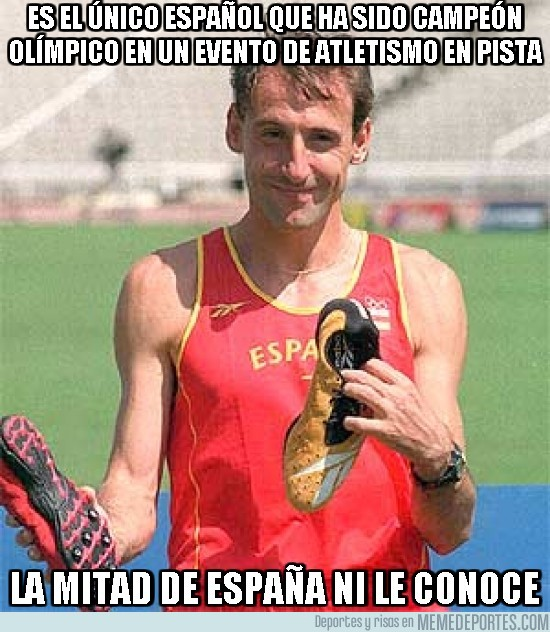 190140 - Es el único español que ha sido campeón olímpico en un evento de atletismo en pista