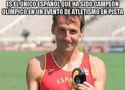 Enlace a Es el único español que ha sido campeón olímpico en un evento de atletismo en pista