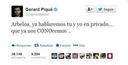 Enlace a Con esta respuesta, Piqué hubiera zanjado la conversación con Arbeloa [fake]