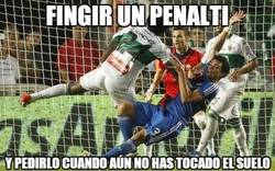 Enlace a Fingir un penalti