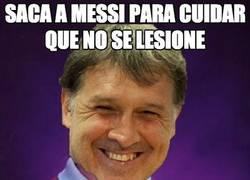 Enlace a Saca a Messi para cuidar que no se lesione