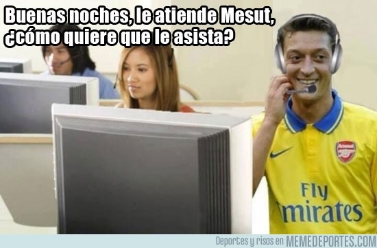 190600 - Mesut Özil en un call center