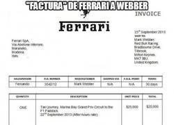 Enlace a Factura de Ferrari a Webber