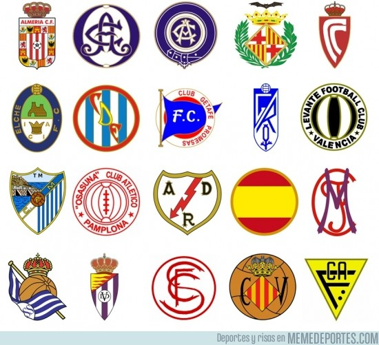 191737 - Los escudos de la Liga el día de su fundación ¿Los reconoces todos?