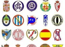 Enlace a Los escudos de la Liga el día de su fundación ¿Los reconoces todos?