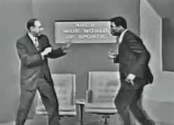 Enlace a GIF: El juego de pies de Muhammad Ali