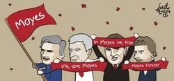 Enlace a Los entrenadores de la EPL celebrando el gran comienzo de Moyes con el Manchester United