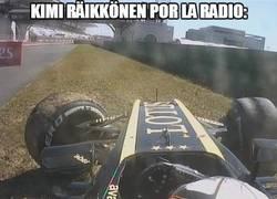 Enlace a Kimi Räikkönen ha sido poseído por Captain Obvious