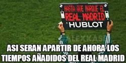 Enlace a Los tiempos añadidos en los partidos del Madrid por @alexkase