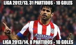 Enlace a Diego Costa está que se sale esta temporada