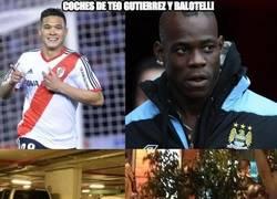 Enlace a Los coches de Teo Gutiérrez y Balotelli troleados