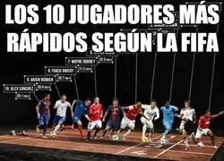 Enlace a Los 10 jugadores más rápidos según la fifa