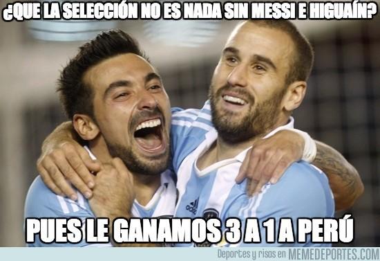 195168 - ¿Que la selección no es nada sin Messi e Higuaín?