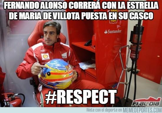 195195 - Fernando Alonso correrá con la estrella de María de Villota puesta en su casco