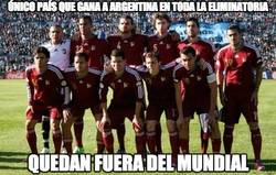 Enlace a Único país que gana a Argentina en toda la eliminatoria