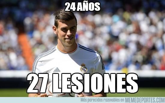 195439 - Gareth Bale: 24 años / 27 lesiones