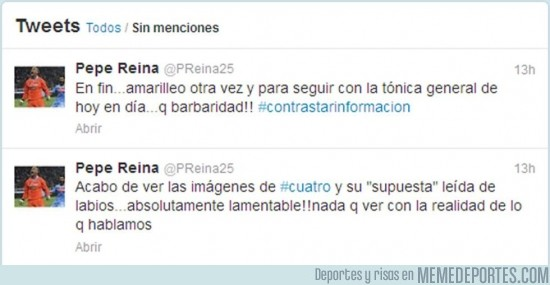 195471 - Reina niega en su Twitter las palabras que mantuvo con Iker