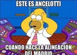 Enlace a Ancelotti haciendo la alineación