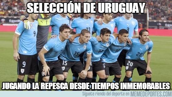 196204 - Selección de Uruguay, adicta a la repesca