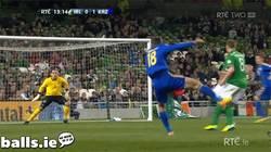Enlace a GIF: Golazo con efecto de Kazakhstan contra Irlanda