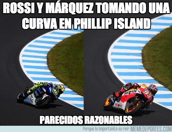 197006 - Rossi y Márquez tomando una curva en Phillip Island