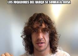 Enlace a Los jugadores del Barça se suman al rosa