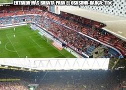 Enlace a Entrada más BARATA para el Osasuna-Barça: 115€