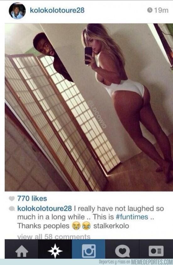 197684 - Kolo Touré disfrutando de las mejores vistas de Kim Kardashian