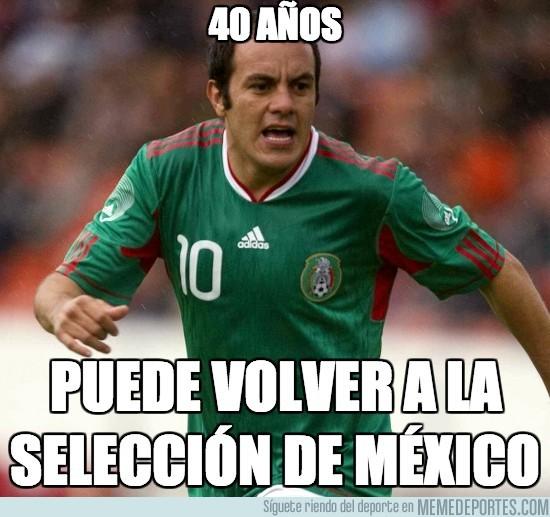197720 - Cuauhtemoc Blanco, con 40 años puede volver a jugar con México