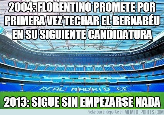 197796 - 2004: Florentino promete por primera vez techar el Bernabéu en su siguiente candidatura