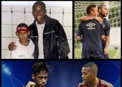 Enlace a Neymar, de pedir fotos a Robinho, a enfrentarse a él