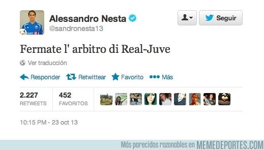198747 - A Nesta no le ha gustado el arbitraje del Real Madrid-Juventus