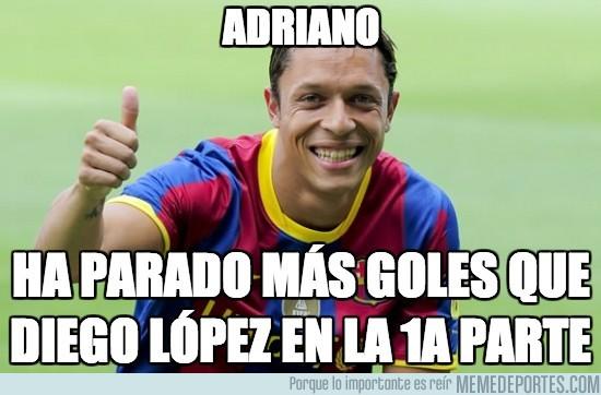 199613 - Adriano, mejor portero que Diego López
