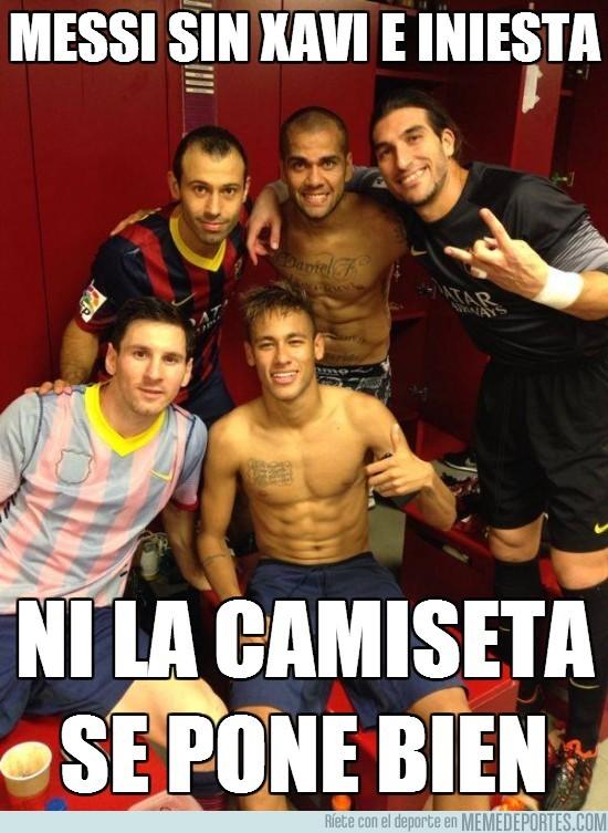 199822 - Messi sin Xavi e Iniesta