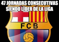 Enlace a El Barça 47 jornadas consecutivas siendo líder de La Liga