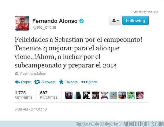 200198 - Alonsistas, un poco de decencia. ¡Hasta el mismo Alonso felicita a Vettel!