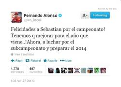 Enlace a Alonsistas, un poco de decencia. ¡Hasta el mismo Alonso felicita a Vettel!