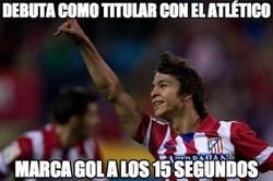 Enlace a Debuta como titular con el Atlético