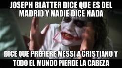 Enlace a Joseph Blatter es socio de honor del Madrid