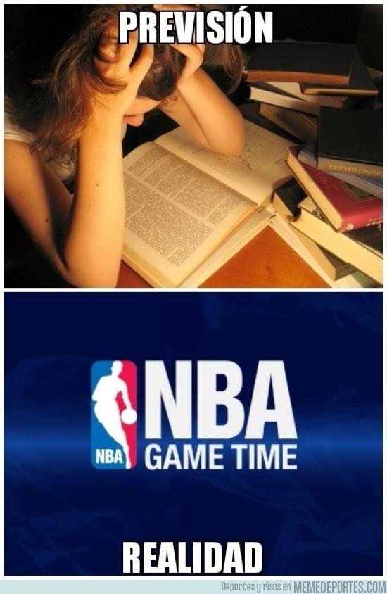 201174 - ¿Mañana examen? ¡Pero si esta noche empieza la NBA!