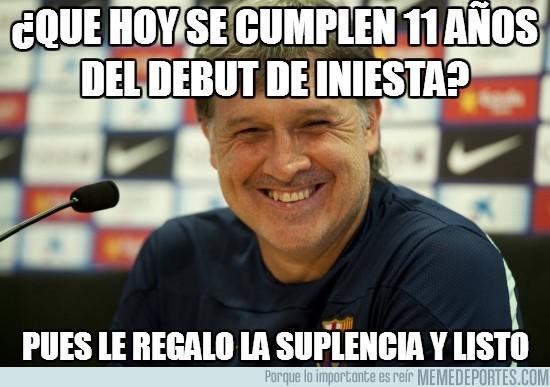 201198 - ¿Que hoy se cumplen 11 años del debut de Iniesta?
