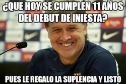 Enlace a ¿Que hoy se cumplen 11 años del debut de Iniesta?