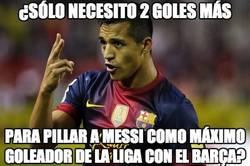 Enlace a Ojo que Alexis está a punto de pillar a Messi
