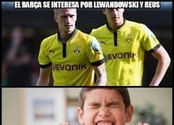 Enlace a El Barça se interesa por Lewandowski y Reus