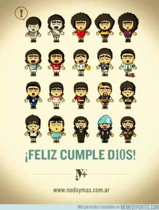 201505 - La evolución del Diego. ¡Feliz cumpleaños, pibe!
