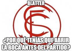 Enlace a Blatter, nuevo enemigo del Sevilla